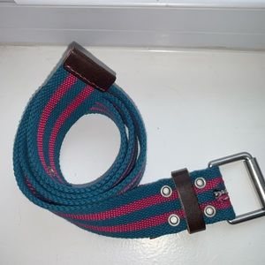 Gap Women's Blue & Pink stripped Canvas Belt MED